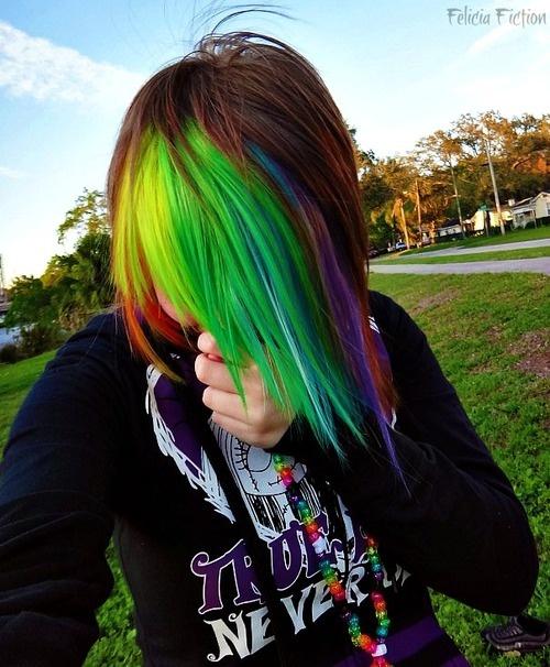 adorable rainbow hairstyles