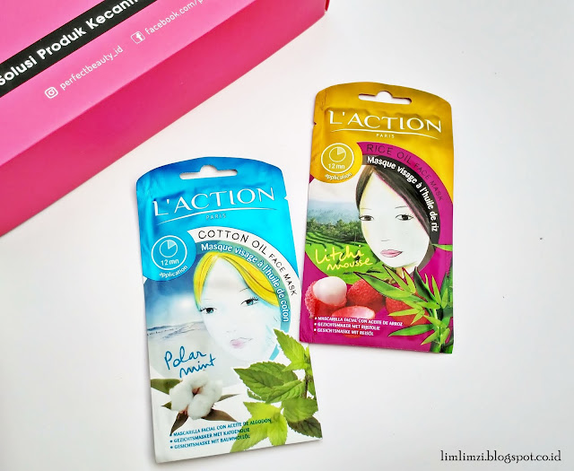 Perfect Beauty Box Laction Mask Polar Mint dan Laction Mask Litchi Mousse