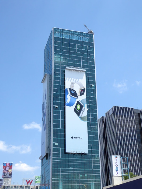 Giant Apple Watch 2016 billboard