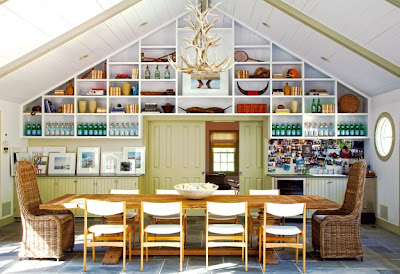 Amagansett Modern dining room Design via Belle Vivir Blog