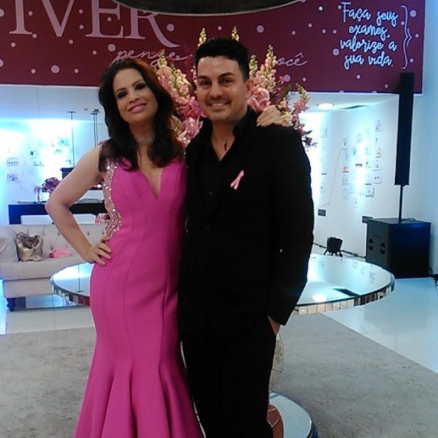 Registrense Sergio Dinnovti maquiou a atriz Isadora Ribeiro em Curitiba