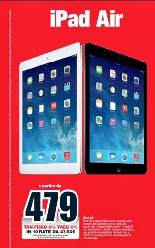 Nuovo Apple Ipad Air A Rate A Tasso Zero Da Mediaworld Sottocosto