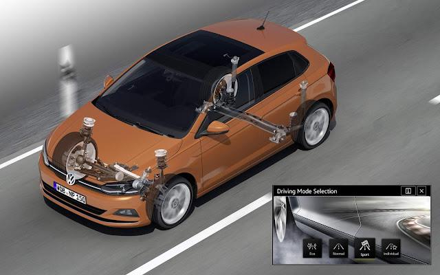Novo VW Polo 2018 - Seletor de Modos de Condução