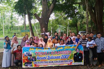 Reuni Mahasiswa Universitas Kanjuruhan Malang Angkatan 2007 di Sumber Pakel Lumajang