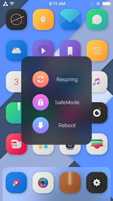 FastBoot is a cydia tweak which lets you sleek menu to pop up with three options ( Respring, SafeMode and Reboot) while holding your power button