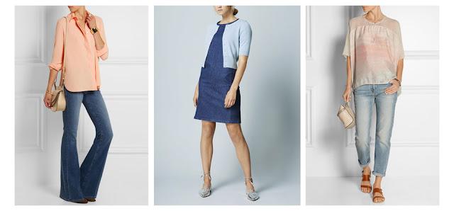 Пастельные блузка, кардиган и топ в сочетании с денимом и джинсами