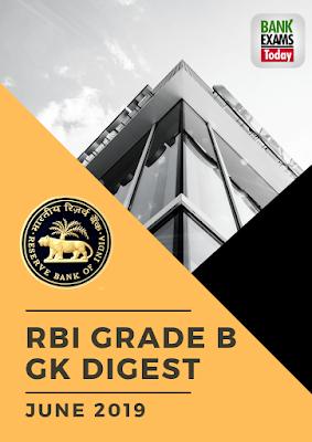 RBI Grade B Gk Digest: June 2019