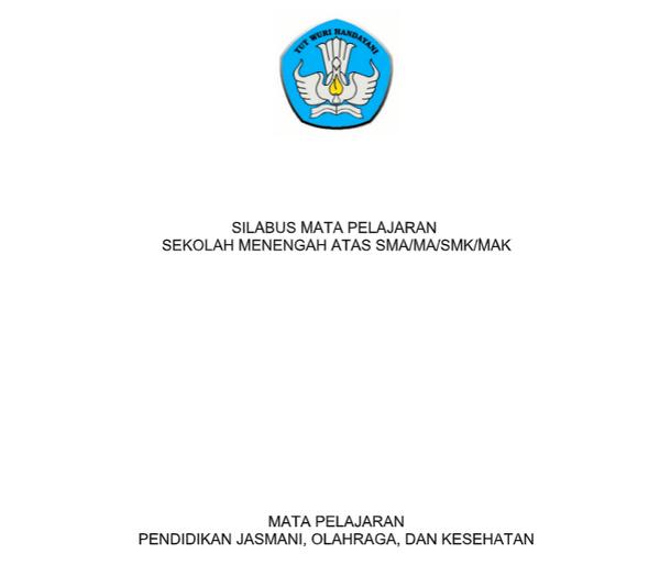 Silabus PJOK SMA, MA, SMK, MAK Kurikulum 2013 Revisi