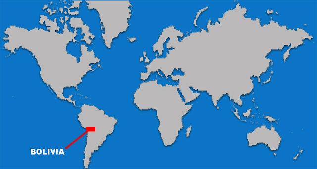 Gambar Peta letak negara Bolivia