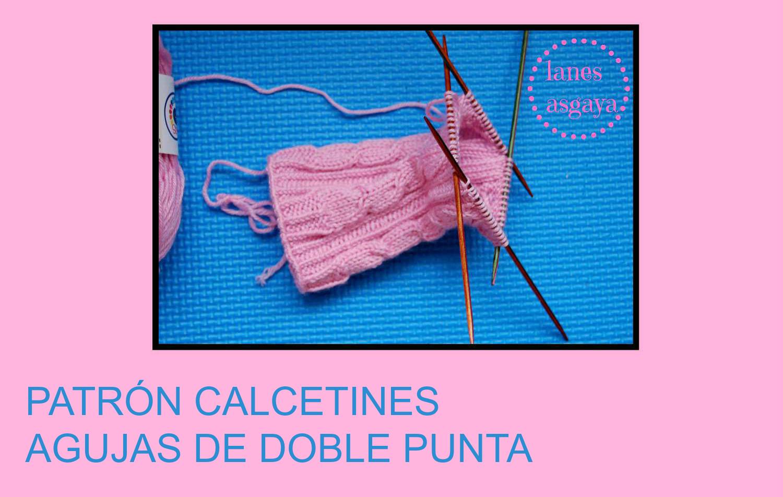 Lanes asgaya patr n para tejer calcetines con agujas de - Como hacer talon de calcetines de lana ...