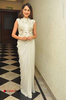 Actress Pragya Jaiswal Stills in Beautiful White Dress at turodu Audio Launch  0047.JPG