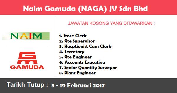 Jawatan Kosong di Naim Gamuda (NAGA) JV Sdn Bhd