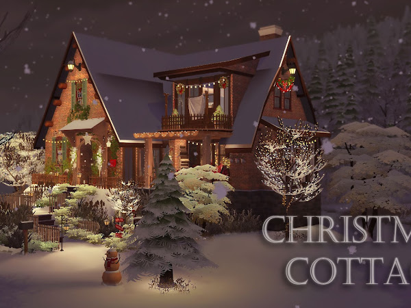 Sims 4 Christmas Cottage 紅色聖誕夜