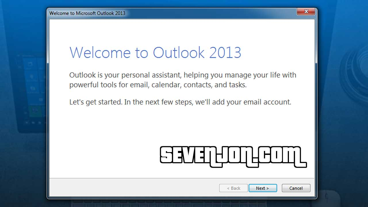 Setting Microsoft Office Outlook Step 10