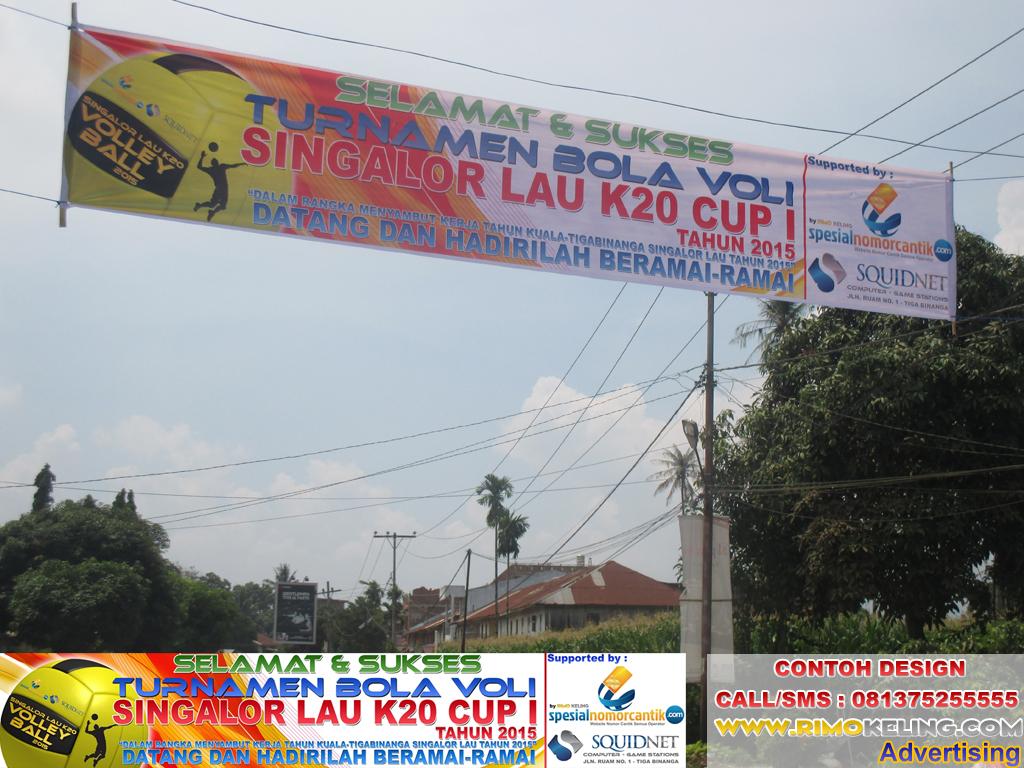 Spanduk Turnamen Bola Volly - desain banner kekinian