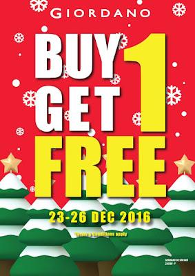 Giordano Malaysia Buy 1 FREE 1 Promotion