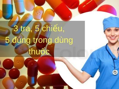 Nguyên tắc 3 tra, 5 chiếu, 5 đúng trong dùng thuốc