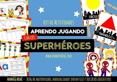 ACTIVIDADES-IMPRIMIBLES-SUPERHEROES-NIÑOS-PREESCOLAR-INFANTIL-MAMAYNENE-RECURSOS-EDUCACION