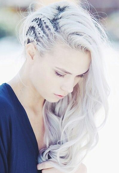 Viking braid hairstyle