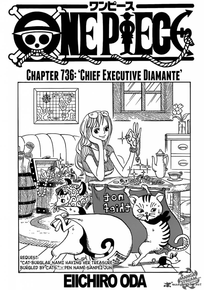 One Piece Ch 736: Chief Executive Diamante