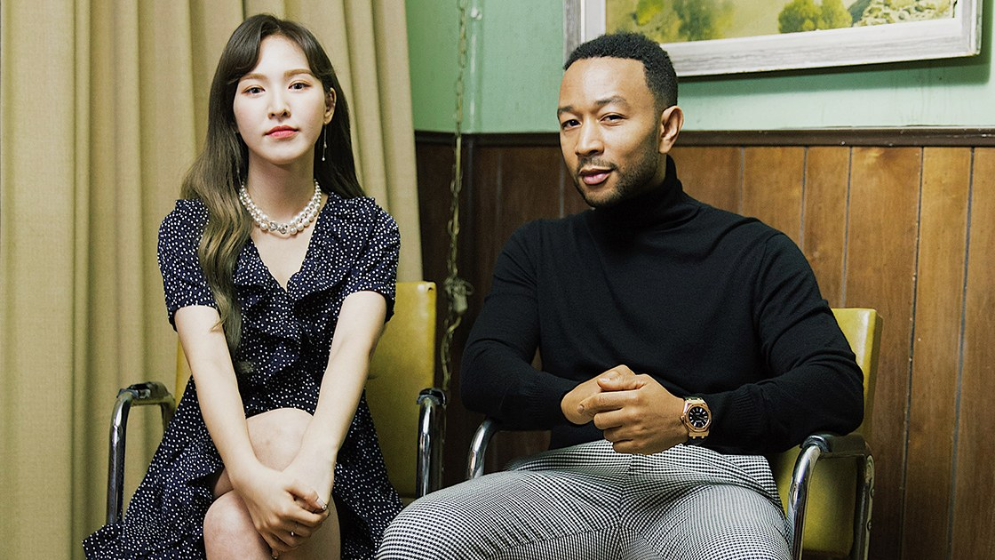 Wendy and John Legend Sit Together on the Duet Song Teaser 'Written in the Stars'