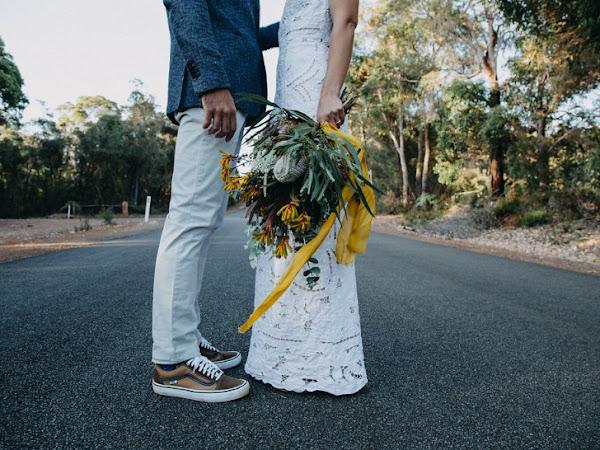➳ ANGIE AND BEN | FUNKY URBAN VIBE BUSH WEDDING FEATURE {DENMARK, WA}