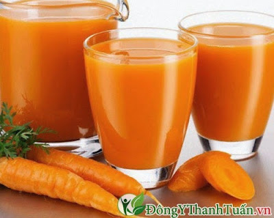 Cách thanh loc, giải độc gan từ cà rốt
