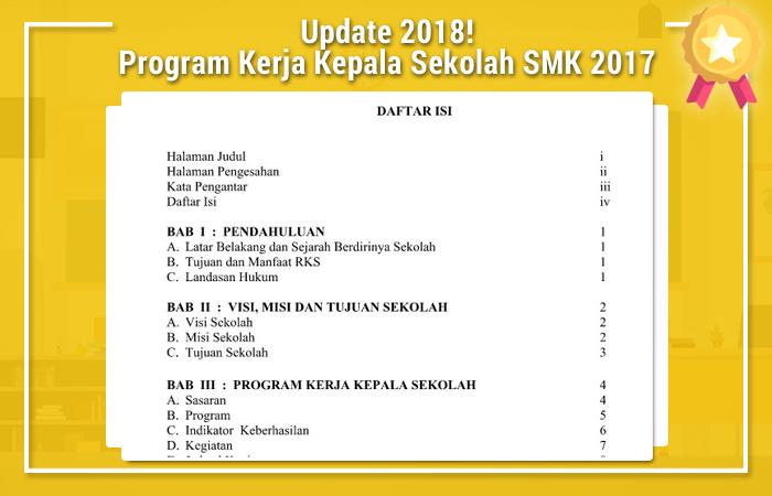 Program Kerja Kepala Sekolah SMK 2017 Doc