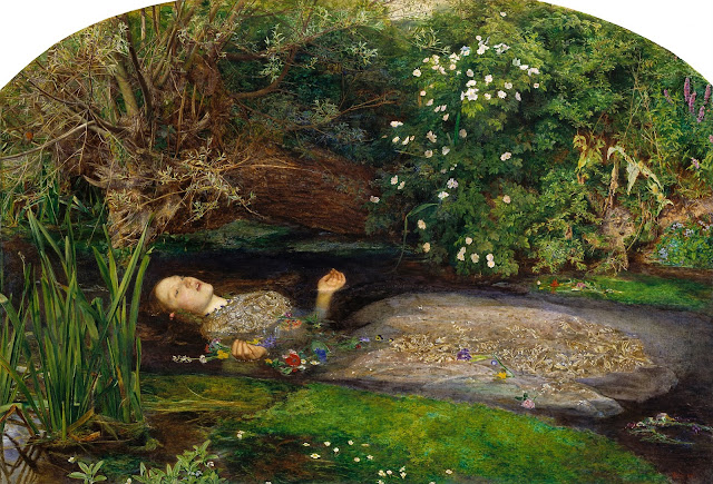 Ophelie, J.E. Millais (1851/52)