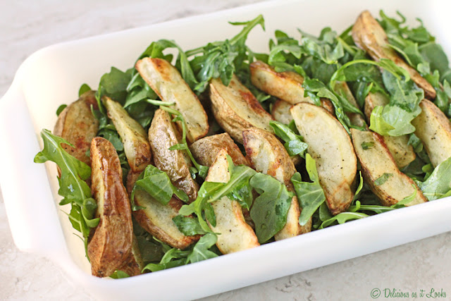 Low-FODMAP Arugula & Roasted Potato Salad  /  Delicious as it Looks