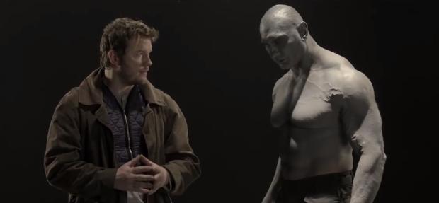 Echa un vistazo a la prueba para interpretar a Star-Lord y Drax, ¡espectacular!