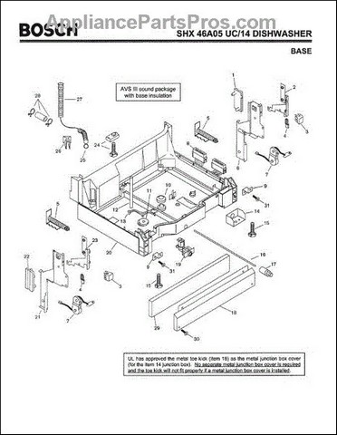 Bosch Dishwasher Silence Plus 50 Dba Manual : bosch, dishwasher, silence, manual, Bosch, Dishwasher, Silence, Parts