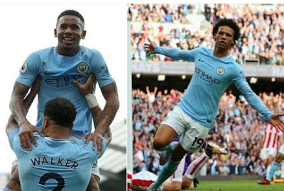 Manchester City 7-2 Stoke City Highlights (City on song again, hammered 7 past helpless Stoke)