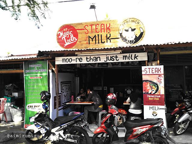 Magic tooth dengan makanan steak dan prof milk dengan susu berbagai rasa