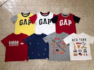 Áo thun bé trai babyGap, size từ 1 đến 5T.