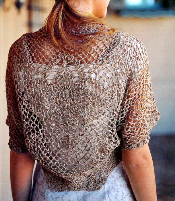 Stylish Easy Crochet Crochet Shrug Pattern Wonderful