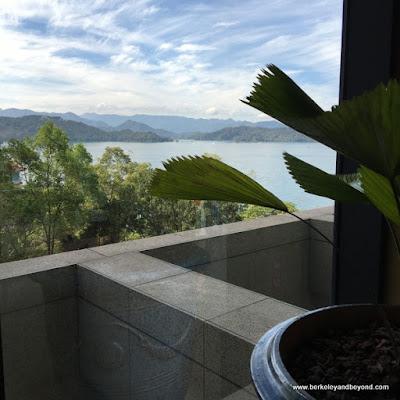 view of lake from Fleur de Chine, Sun Moon Lake hotel
