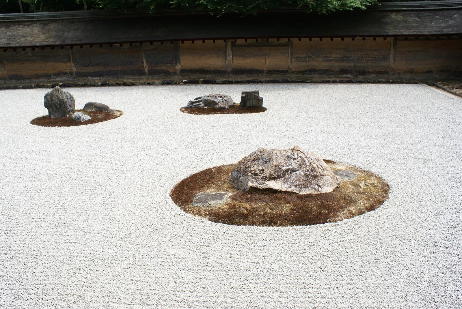ryoan ji buddhist temple stone garden kyoto kansai japan asia