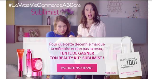 250 kits beauté L'Oréal et 5000 échantillons de soins Sublimist à gagner