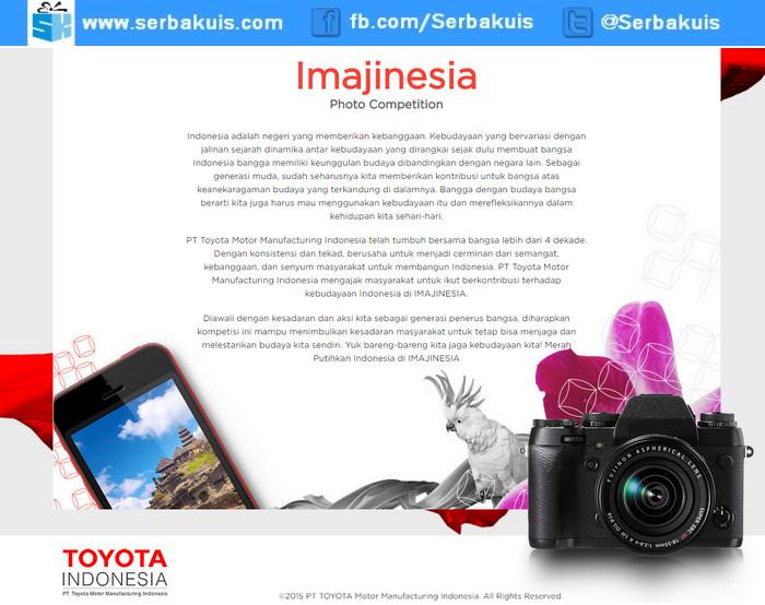 Kontes Foto Toyota Imajinesia Berhadiah Sony Alpha A6000