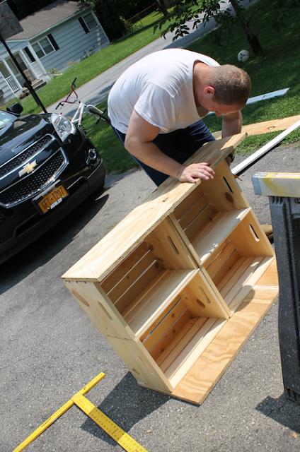 Como hacer un puesto de limonada con cajas de madera - Hacer cajas de madera ...
