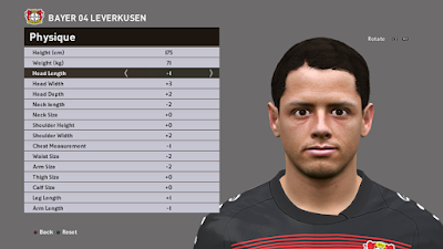 [PES16/17] Javier Hernández (Bayer 04 Leverkusen) Face by Ozy_96 PESMOD