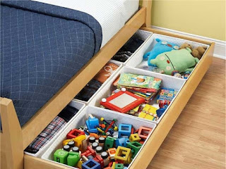 Utilize under-the-bed storage
