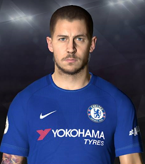 PES 2017 Face & Tattoo Eden Hazard by Facemaker Ahmed El Shenawy