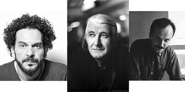 Imagem mostra três tipógrafos famosos: Claudio Gil (RJ), Matthew Carter e Alo´´isio Magalhães (Pernambuco).