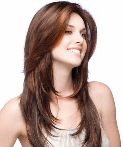 model rambut layer panjang wanita gemuk