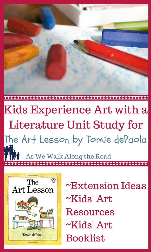 Literature unit ideas for The Art Lesson by Tomie dePaola