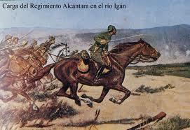 Carga del Regimiento Alcántara en el río Igán
