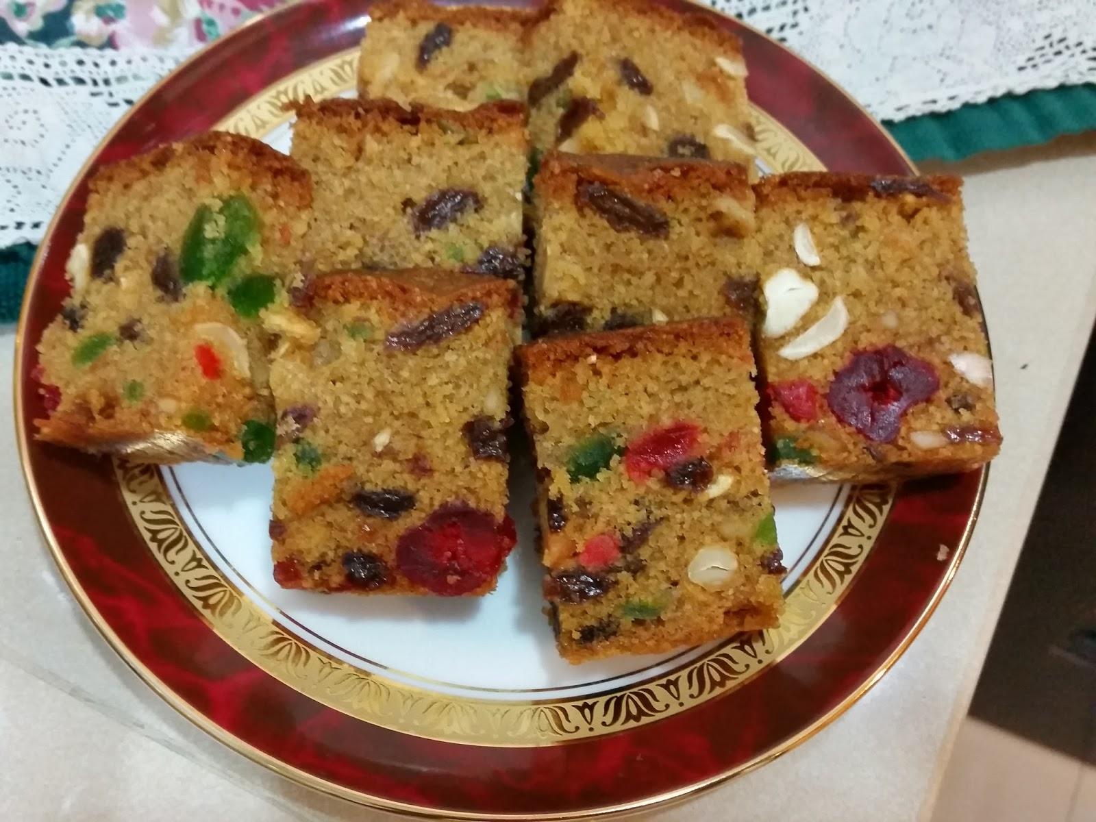 Sri Lankan Semolina Fruit Cake