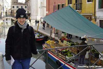 Me standing on a bridge in Venice